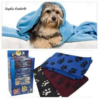 Soft Touch Warm Cosy Fleece Pet Blanket Dog Puppy Cat Travel Bed Basket Large
