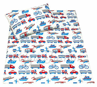 cot bedding for baby toddler boys 2pcs sets / pillowcases sheet 100% Cotton car