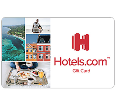 Hotels.com Gift Card - $50 $100 or $200 - Fast Email delivery