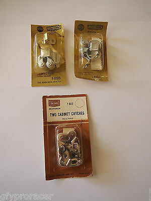 Lot of 4 NEW unopened Sears Roebuck ZINC & NICKEL plated cabinet catch