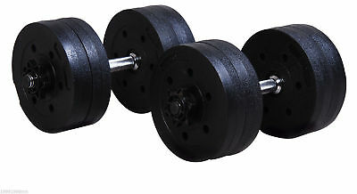 Soozier 42LB Pair Dumbbells Set Training Biceps Exercise Fitness Free Weights