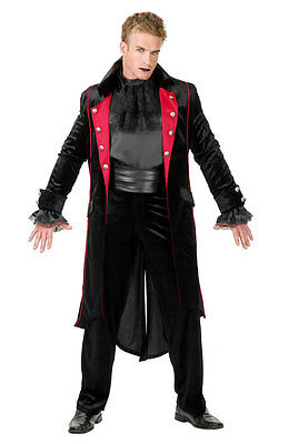 Twilight Vampire Black Velvet Coat Men's Adult Size Lg 42-44 Halloween Costume