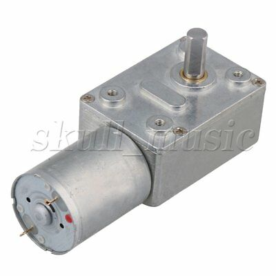 12V 200rpm High-torque Drive Pmdc Worm Right Angle Geared Motor Turbo Gear Motor