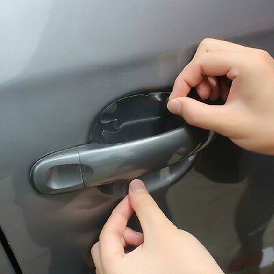 8Pcs Invisible Adhesive Car Door Handle Paint Anti-Scratch Protection Film Sheet