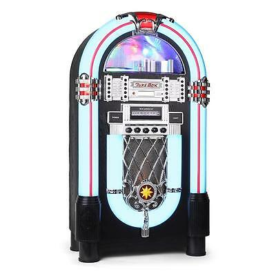 NEW ROCK & ROLL JUKEBOX 1950's STEREO CD PLAYER RADIO AUX * FREE P&P UK OFFER