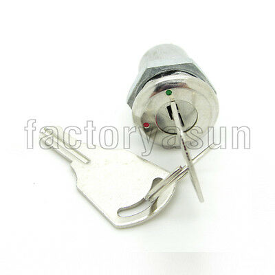 "12mm 0.47"" Mini Lock Key Switch 2 Positions ON-OFF With 2 Keys 1A"