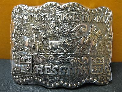 1987 Vintage Hesston National Finals Rodeo Belt Buckle NOS FREE SHIPPING