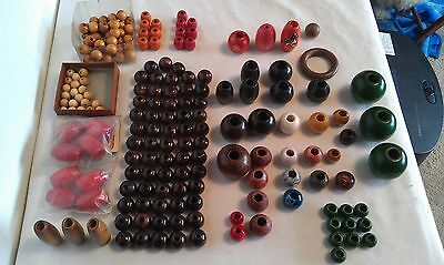 Macrame Wooden Bead Assortment / Some New & Used