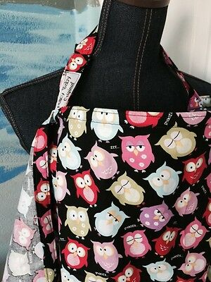 NURSING COVER like HOOTER hider* BREASTFEEDING  Cover Up Owls Colorful Zzz