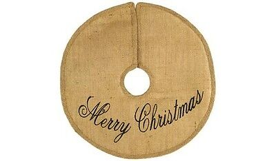 MERRY CHRISTMAS Burlap Tree Skirt, Choose from 3 Sizes! by Country House
