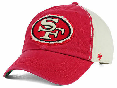 hot sales 8891a 87ea6 San Francisco 49ers NFL 47 Brand Derby XP Adjustable Strapback Clean Up Cap  Hat