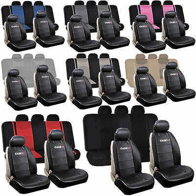 Synthetic Leather Case IH Sideless & Split Bench Seat Covers Universal Car Truck