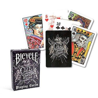 Bicycle Club Tattoo Deck - Playing Cards - Magic Tricks - New