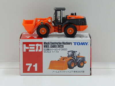 1:110 Hitachi Construction Machinery Wheel Loader ZW220 - Made in China Tomica 7