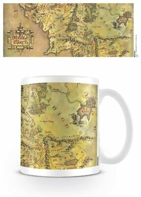 The Lord Of The Rings - Ceramic Coffee Mug / Cup (Map Of Middle Earth)