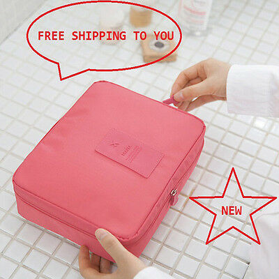 Travel Cosmetic Makeup Toiletry Cases Wash Organizer Storage Pouch Hanging Bags