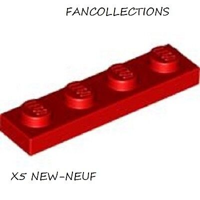 Lego 6x Plaque Plate 1x4 4x1 rouge//red 3710 NEUF