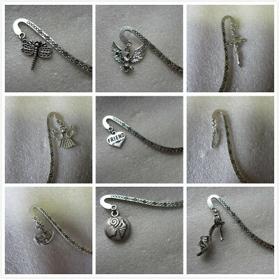Antique silver Bookmarks With Tibetan SP Charms - Music Peace Mother...35 Styles