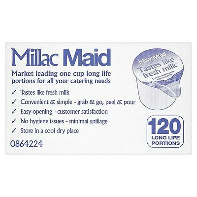 120 Millac Maid Long Life Milk Individual Portions