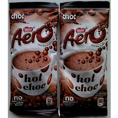20 Nestlé Aero Bubbly Hot Chocolate Instant Drink Individual Sachets