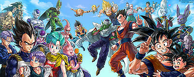Poster A4 Plastifie(1 Free/1 Gratuit)*.manga Dragon Ball Z.all Persos/goku & Co.