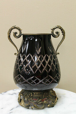 "11.6"" Dominic Ruby Cut Glass Vase"