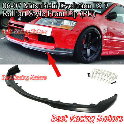 06-07 EVO 9 Ralliart Style Front Bumper Lip (Urethane)