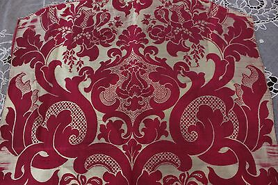 Lovely Antique French Lyon Silk Victorian Small Brocatelle Panel c1860
