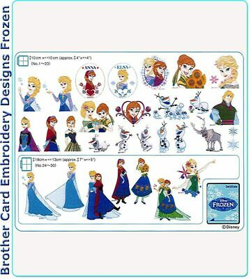 Brother Embroidery Designs - Disney Frozen Embroidery Card