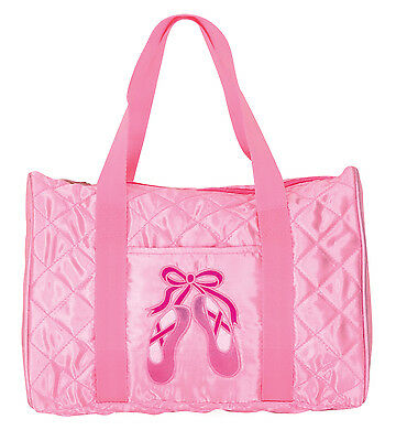Girls Dansbagz Pink Quilted On Pointe Duffel Duffle Dance Bag New