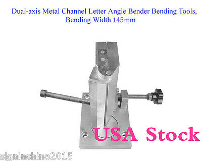 US Stock-- Dual-axis Metal Channel Letter Angle Bender Bending Tools-Width 145mm