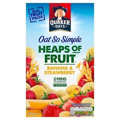 Quaker Oat So Simple Heaps Of Fruit Banana & Strawberry 8 x 35.5g