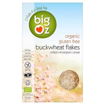Big Oz Organic Gluten Free Buckwheat Porridge Flakes 500g