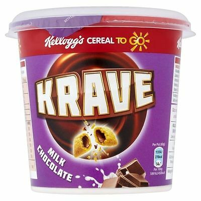 Kellogg's Krave Milk Chocolate Cereal to Go Cup 60g