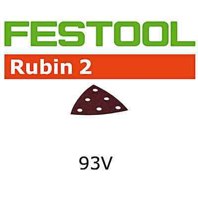 Festool 499167 P180 Grit Rubin 2 Abrasives for RO 90/DX 93 Sander, 50-Pack