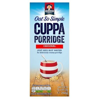 Quaker Oat So Simple Cuppa Porridge Orginal 5 x 49.5g