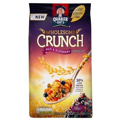 Quaker Wholesome Crunch Granola with Goji & Blueberry 550g