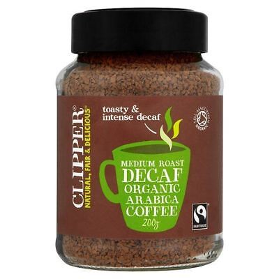 Clipper Fairtrade Instant Decaffeinated Coffee 200g