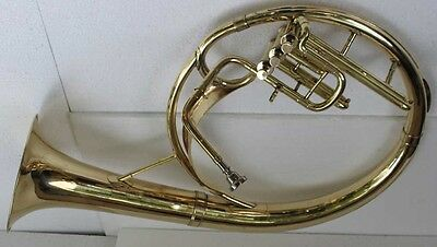 """Sousaphone (Helicon) 10"""" Bell  Bb 3V Shinning Brass+Bag M/Piece Fast Ship 080915"""