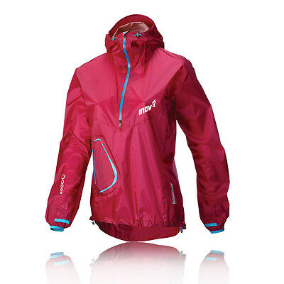 INOV-8 Race Elite 140 Stormshell Mujer Rosa Impermeable Running Correr Chaqueta