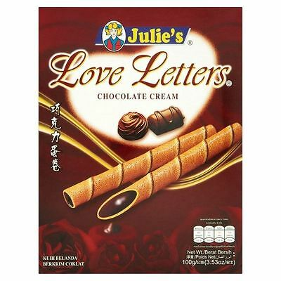 Julie's Love Letters Chocolate 100g