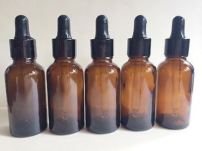 NEW  20pcs 30ml  brown Glass Dropper Bottle To store Essential Oil