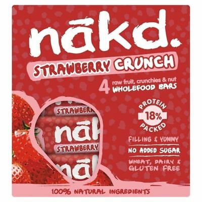 Nakd Free From Strawberry Crunch Fruit & Nut Bar Multipack 4 x 30g