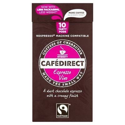 Cafedirect Nespresso Compatible Pods Vivo Intensity 9 10 per pack