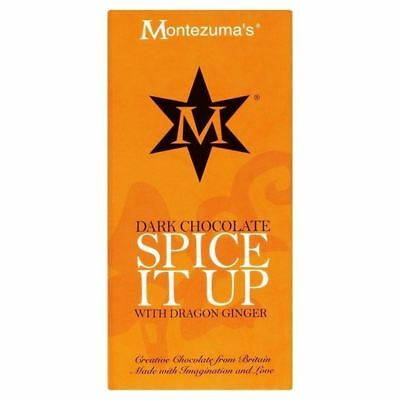 Montezuma's Dark Chocolate with Ginger Bar 100g
