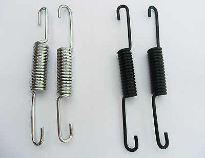 MOTORCYCLE BIKE ROYAL ENFIELD PAIR CENTER STAND UNIVERSAL SPRINGS Black chrome