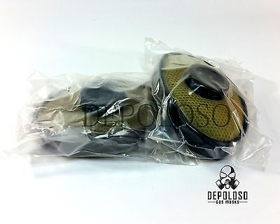 """Soviet russian military gas mask EO-19 """"PBF"""" Filters. 2 filters replacement."""