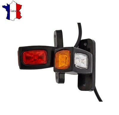 2 X 12V 24V Led Feux De Gabarit Rouge Orange Blanc Camion Remorque Bus Shassis