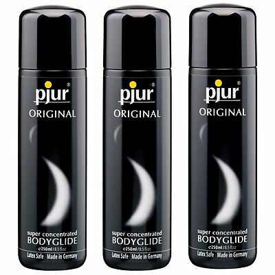 3 Pjur Original Silicone Based Lube Lubricant BodyGlide 250 ml Made in Germany