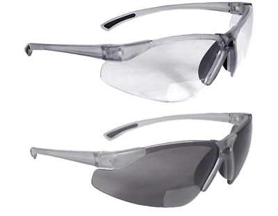 Radians C2 Bi-Focal Clear/Smoke-Dark Safety Reading Glasses *Free Ship*